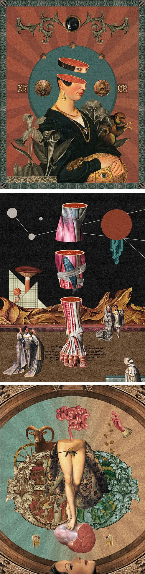 Collages by randy mora | il·lustracions | Pinterest | Anatomía ...
