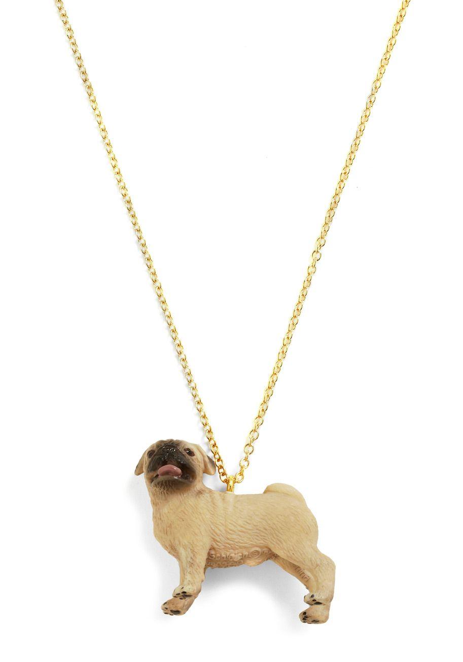 pug necklace! <3 modcloth, $29.99