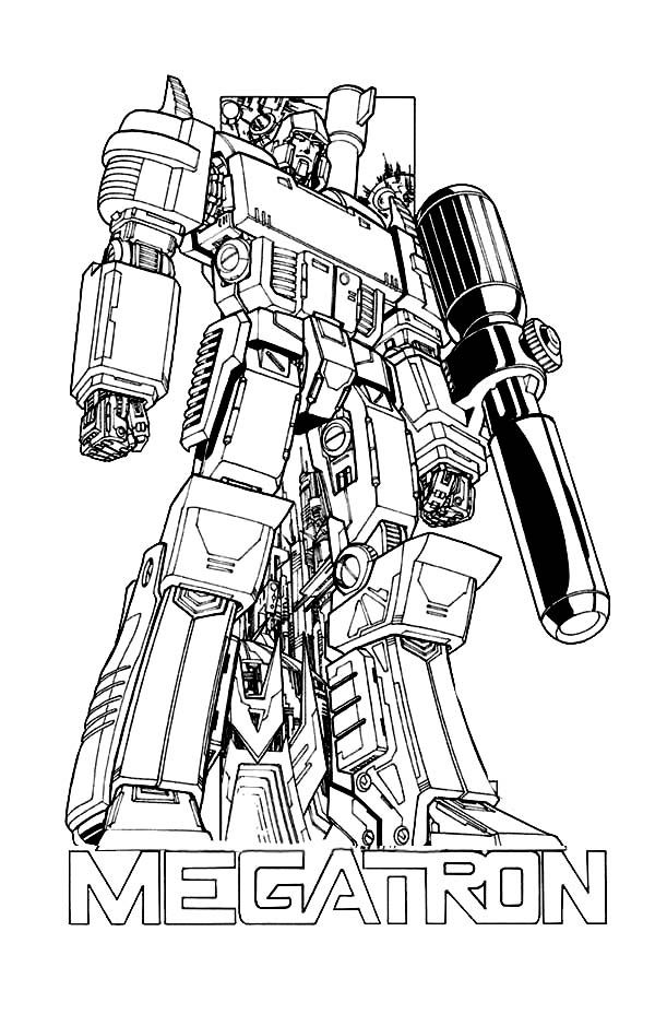 Megatron Poster Coloring Page Coloring Pages Color Adult