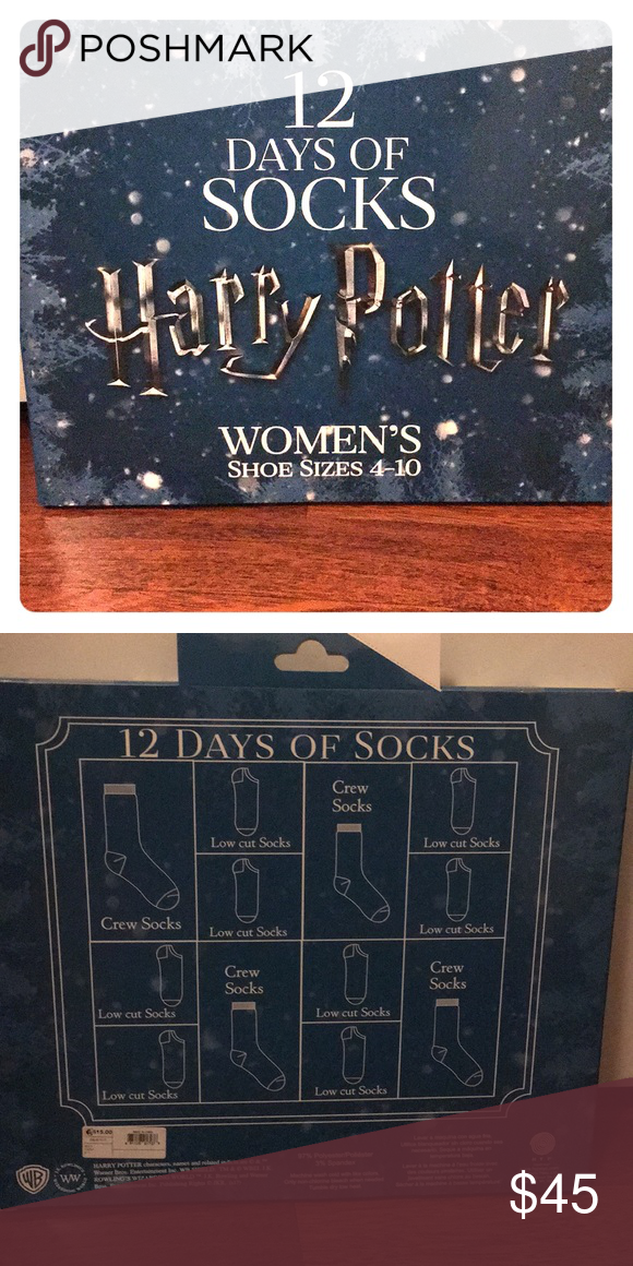 harry potter 12 days of christmas socks