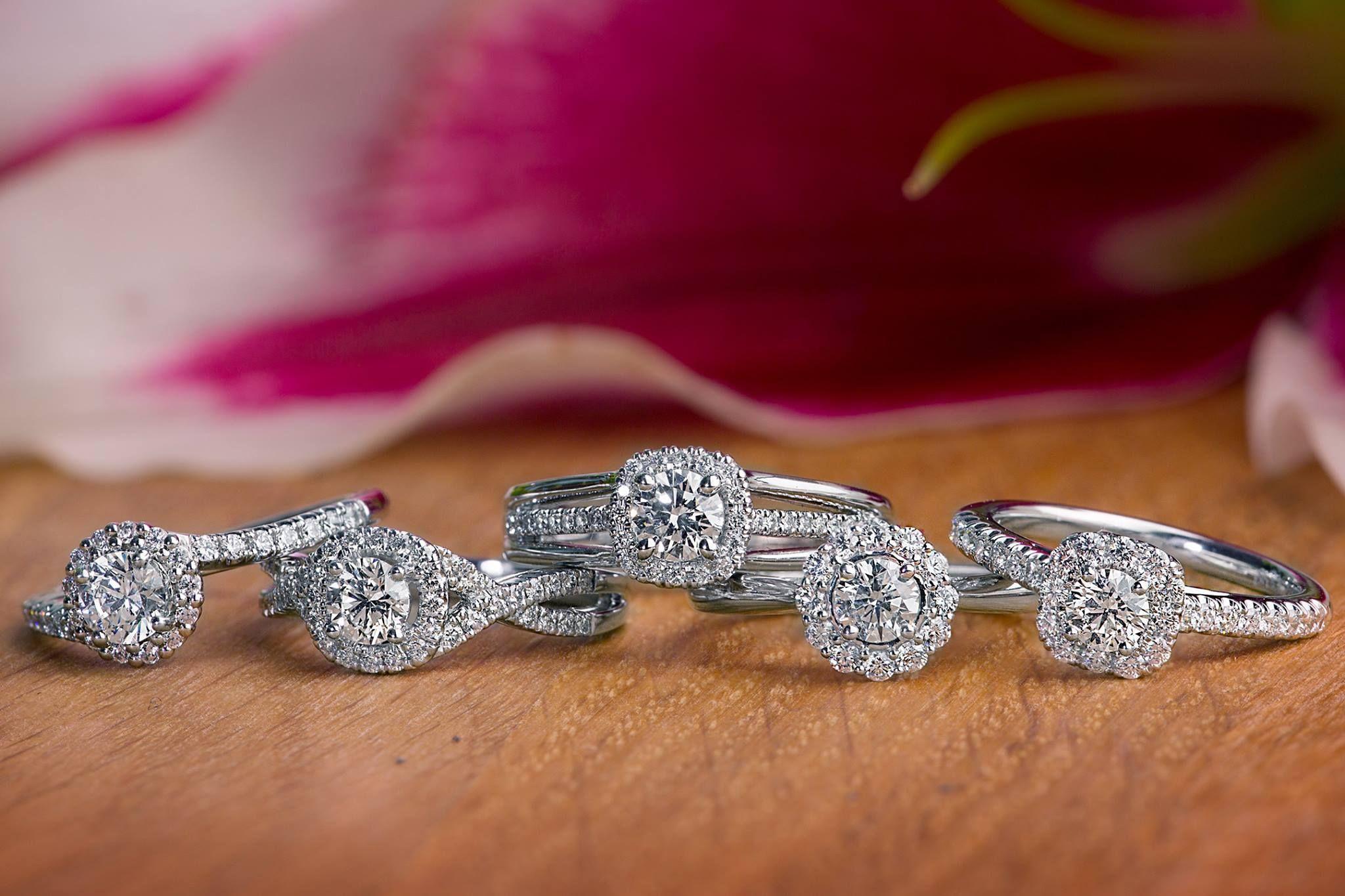 Naledi white gold halo engagement ring