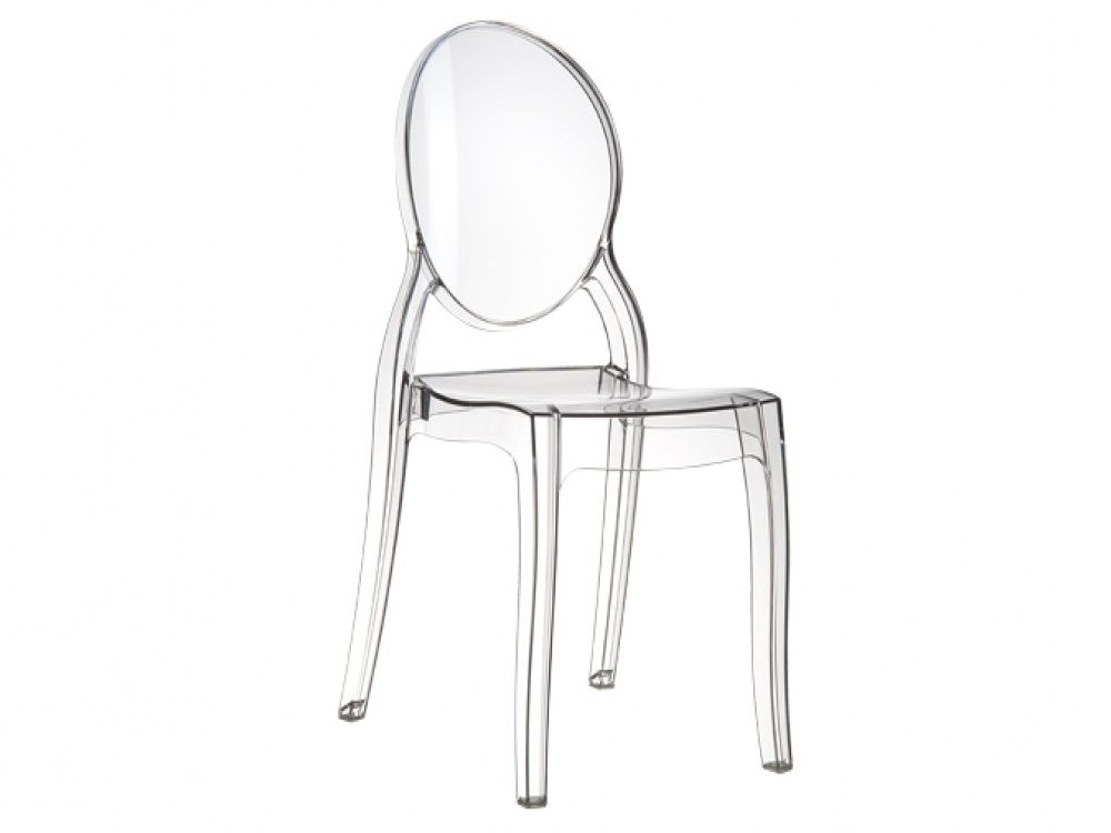 Captivating Elizabeth Pair Clear Transparent Polycarbonate Dining Chair