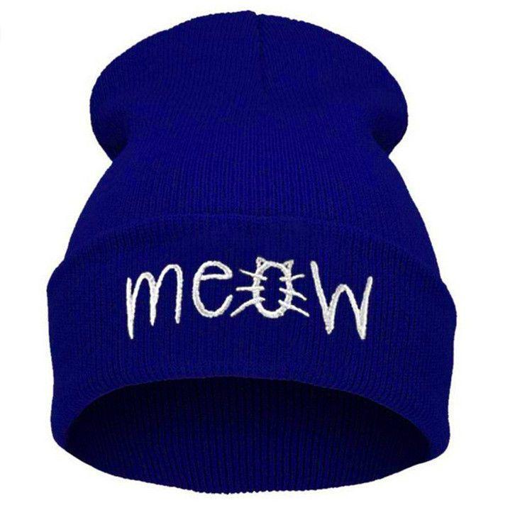 Fashion Meow Beanie for Men and Women