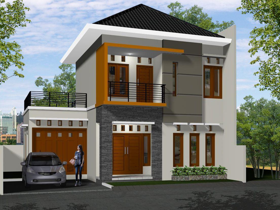 Rumah  Minimalis  2 Lantai Desain Cat  Rumah  Pinterest