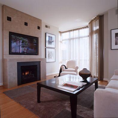 Bachelor Pad In Arlington Fireplace Design Simple Living Room Bachelor Pad