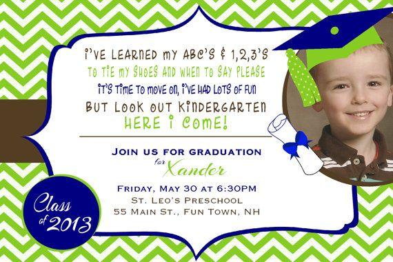 Tarjeta Invitación Graduación Preescolar Imagui