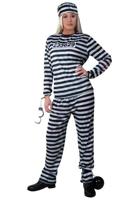 6e00b32bb7ef Amazon.com  Plus Size Womens Prisoner Costume  Clothing