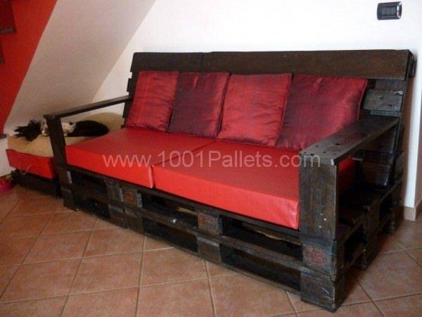Divano Bancali ~ Divano in pallets pallet sofa pallet sofa pallets and pallet