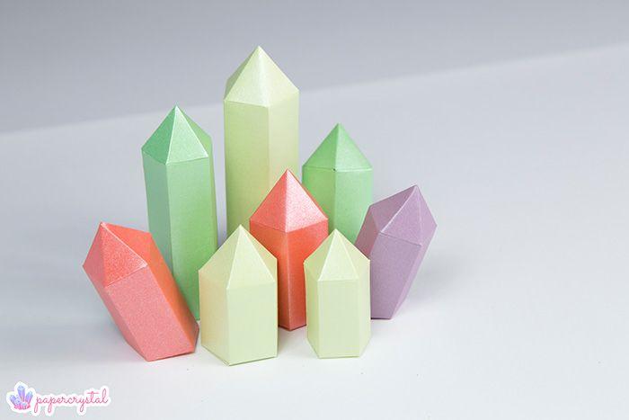 printable paper gems crystal templates ting å lage pinterest