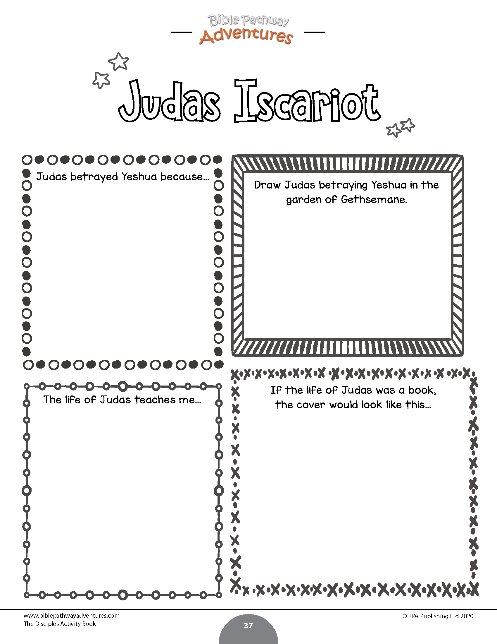 The 12 Disciples Activity Book In
