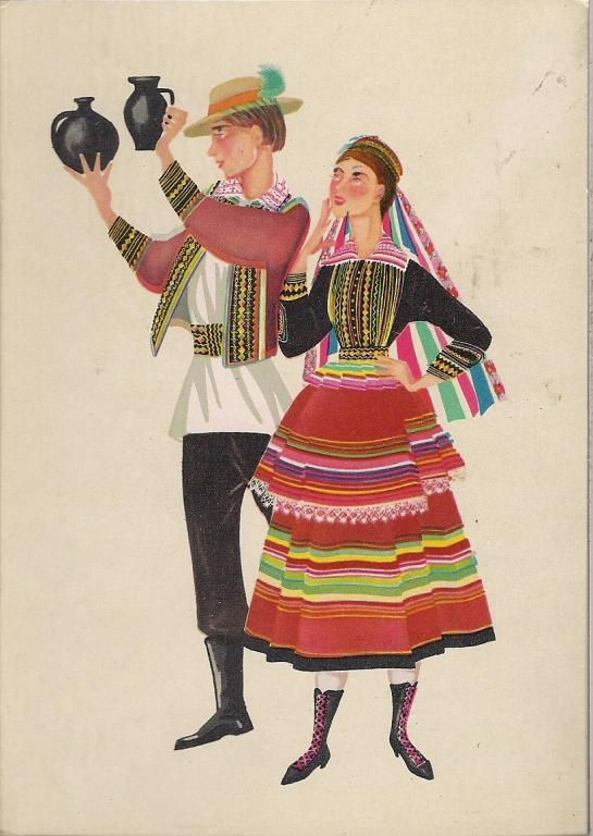 Lubliniacy Stroj Ludowy Czarnecka Karnet 4354523836 Oficjalne Archiwum Allegro Polish Folk Art Graphic Arts Illustration Folk Art
