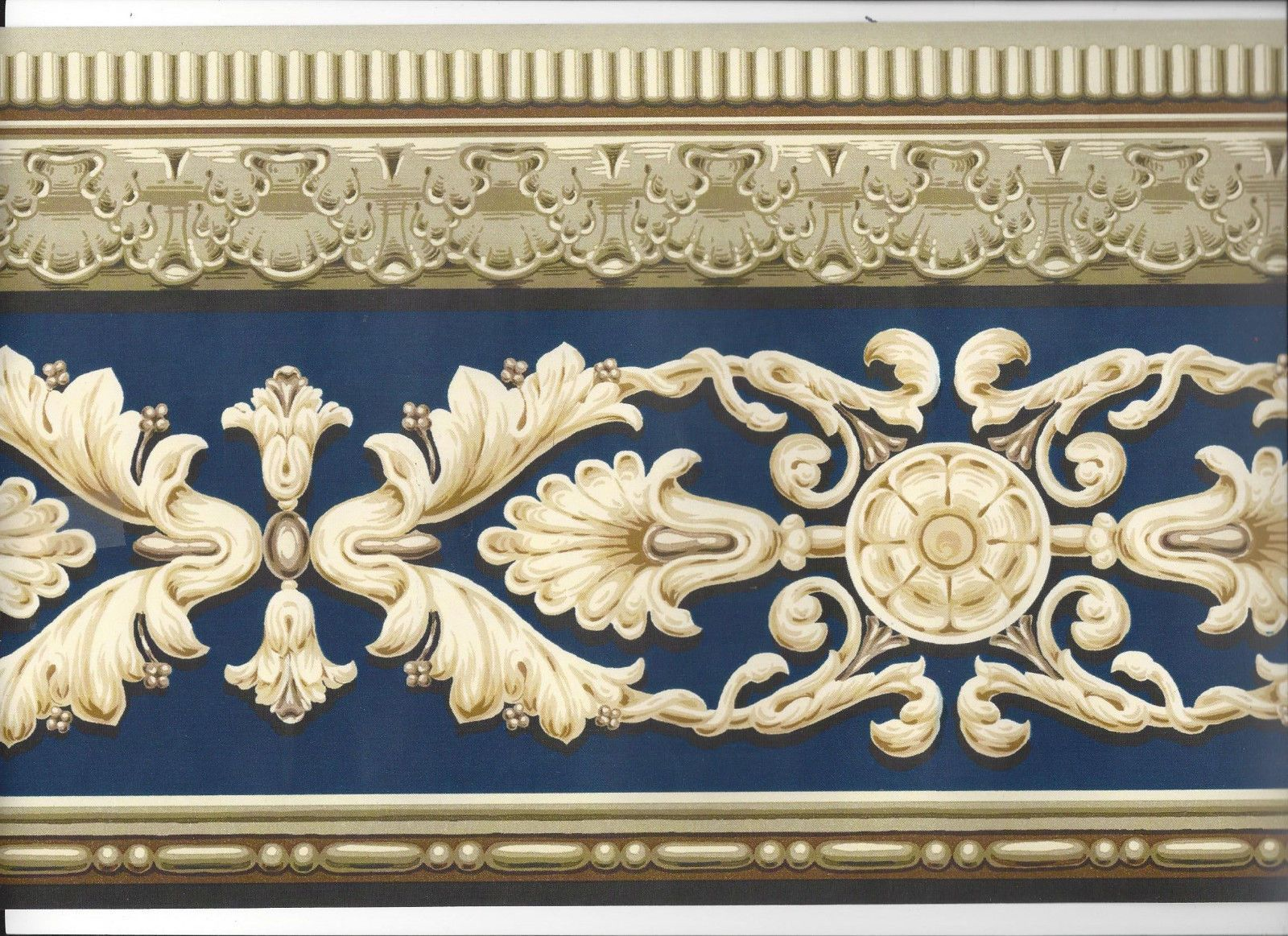 Architectural Victorian Moulding Wallpaper Border Classic
