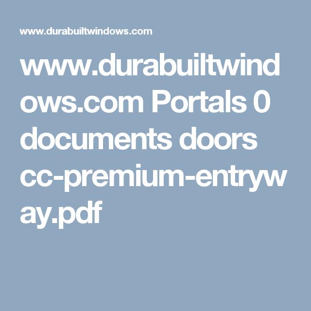www.durabuiltwindows.com Portals 0 documents doors cc-premium-entryway.pdf