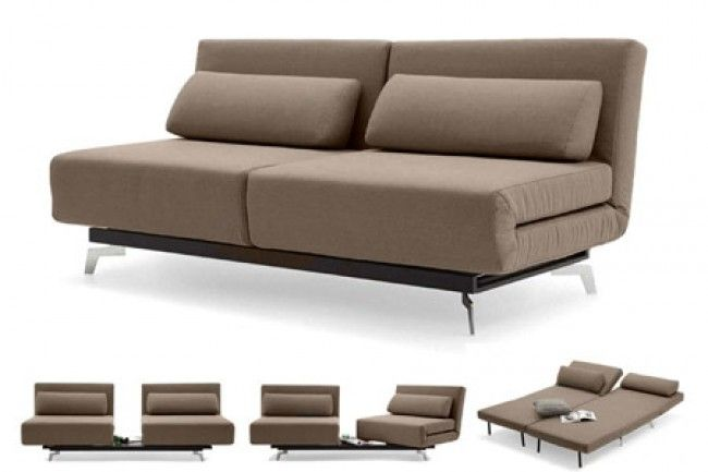 Brown Contemporary Convertible Sofa Bed Apollo Bark The Futon