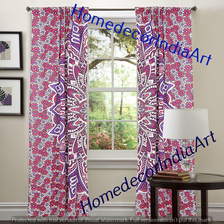 Indian Mandala Tapestry Door Curtain Room Window Cotton Etsy In 2020 Mandala Curtains Curtains Wall Drapes