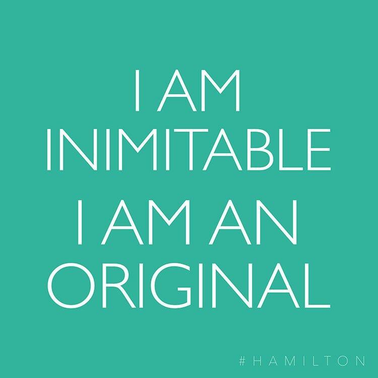 I Am The One Thing In Life I Can Control Hamilton Lyrics