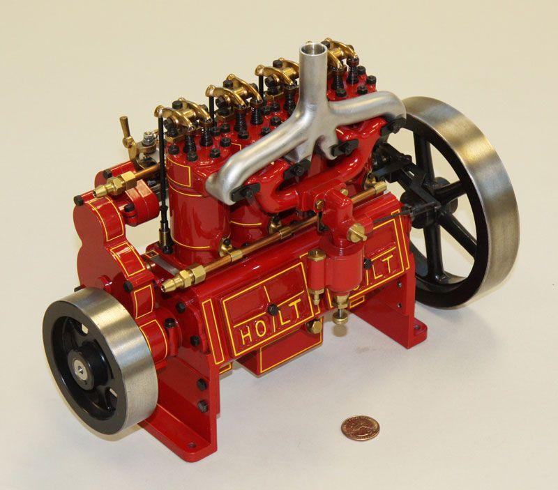 Holt 75 Caterpillar Engine, Model By Reinhold Krieger