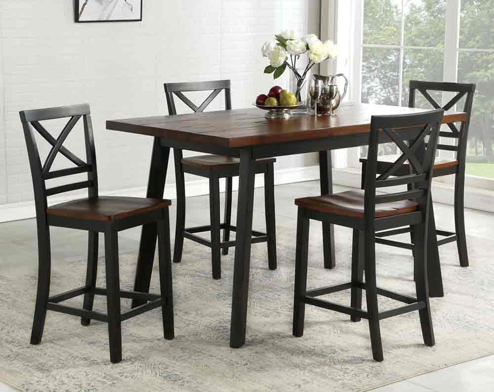 Amelia Noir Dining Collection Counter Height Sets Dining Rooms American Freight Pub Table And Chairs Pub Table Sets Pub Table