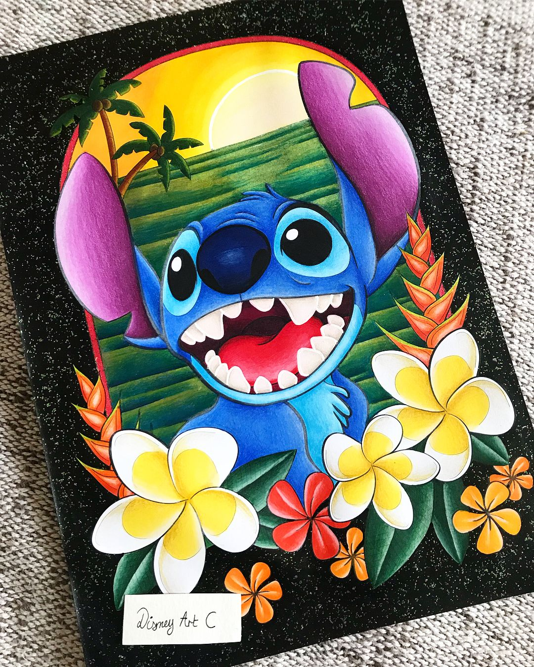 Disney Art C sur Instagram : « Aloha ! » Stitch