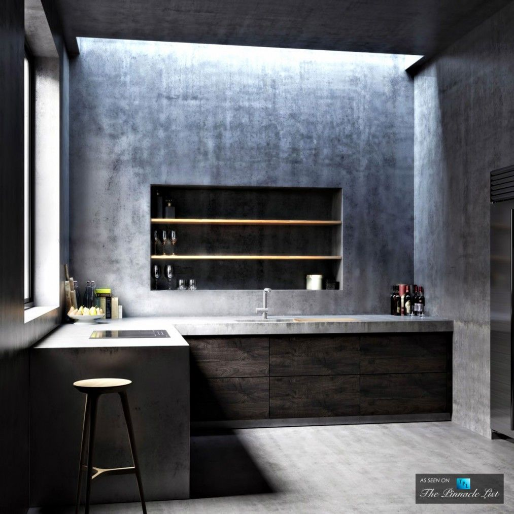 Kitchen   Ex Machina Film Inspires Architecture For A Writeru0027s Modern Concrete  Home Design