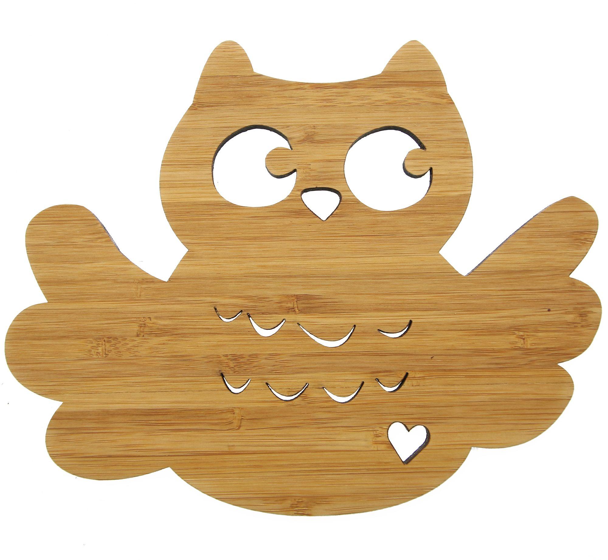 Fabulous Wanddeko Eule Breitfl gel aus Bambus Coffee Das Original von Mr u Mrs Panda