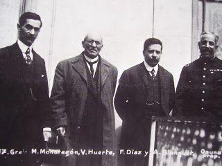 Manuel Mondragón, Victoriano Huerta, Felix Díaz y Aurelio Blanquet.