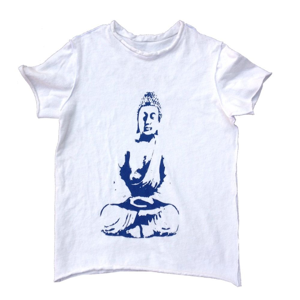 NEW Kids Organic Cotton Short Sleeve T Shirt Buddha in Blue by TeresKidsShop on Etsy