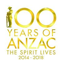 100 Years of Anzac - The spirit lives 2014-2018. Learn about the Anzac logo.