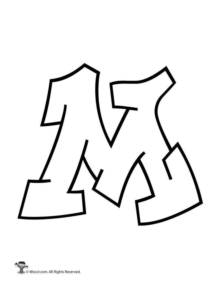 Graffiti Capital Letter M Woo Jr Kids Activities Graffiti Alphabet Easy Graffiti Letters Lettering Alphabet