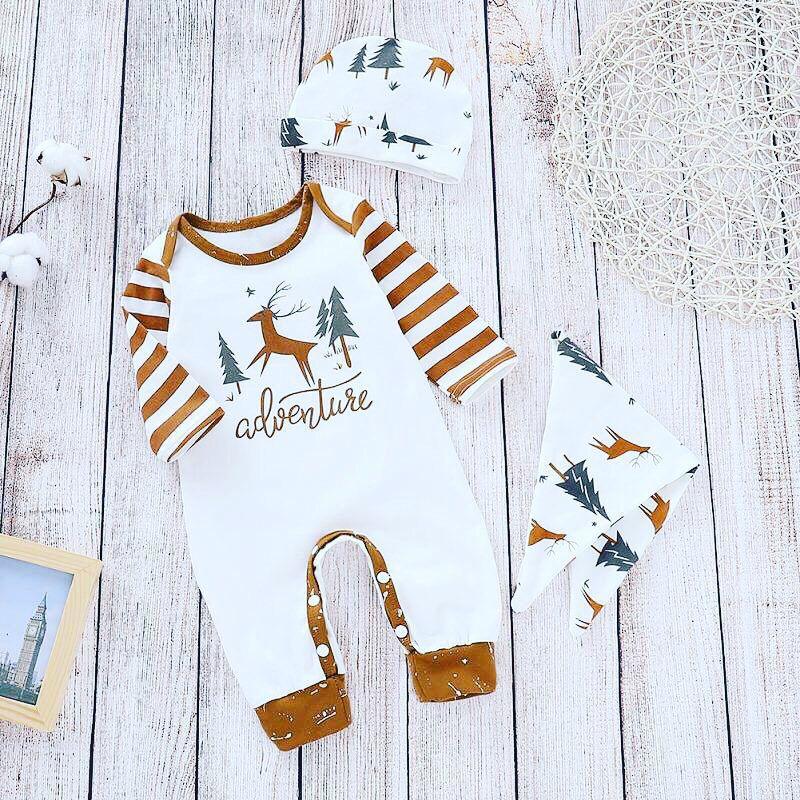 61d79ba56 Striped Jumpsuit, Cotton Jumpsuit, Christmas Print, Merry Christmas, Long  Sleeve Playsuit,