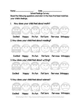 Parent Survey HomeSchool Partnership Freebie  Classroom Ideas