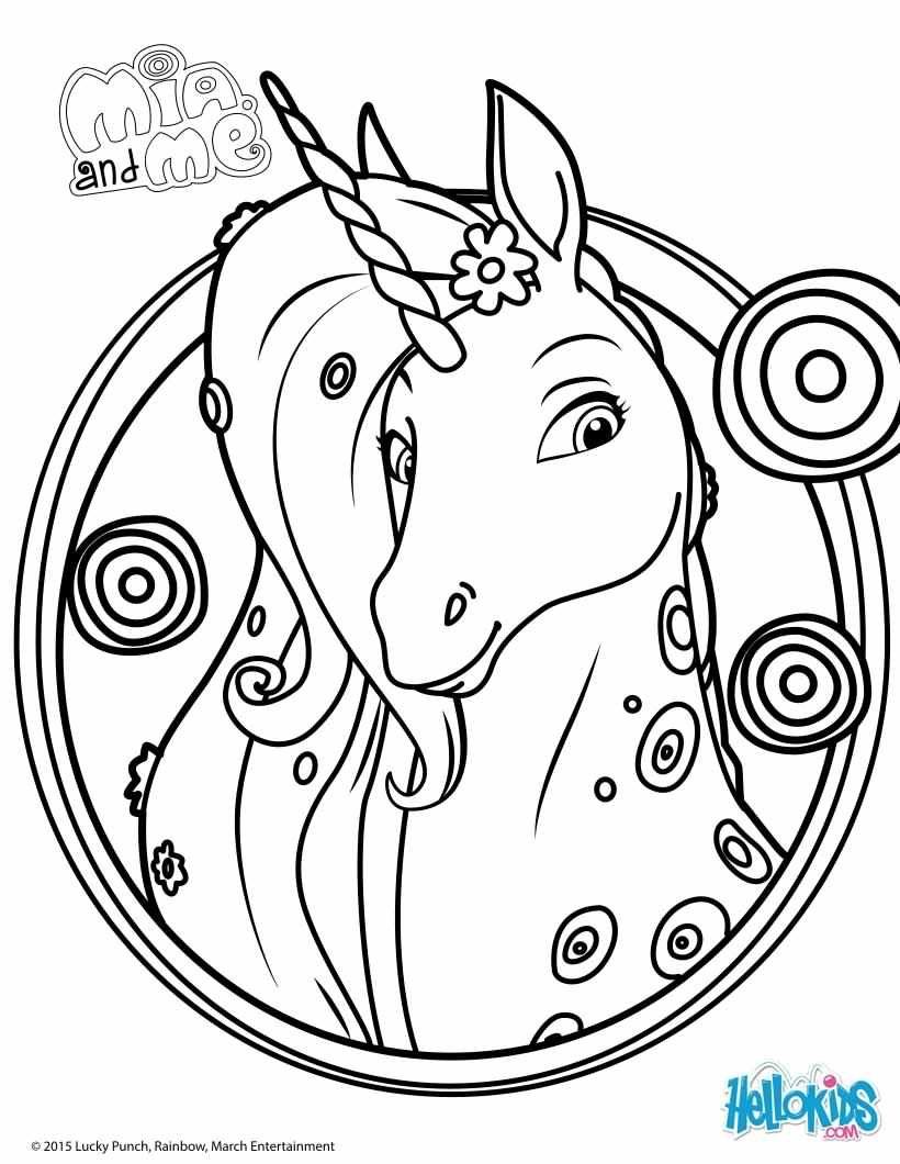 Onchao colouring page - Mia & Me | bogi tetko | Pinterest | Unicorn ...