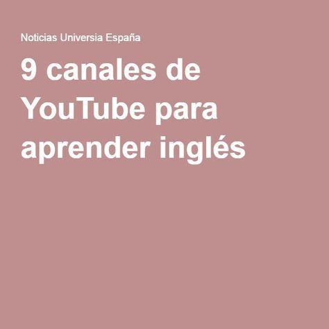 9 canales de youtube para aprender ingl s arquitectura for Estudio de arquitectura en ingles