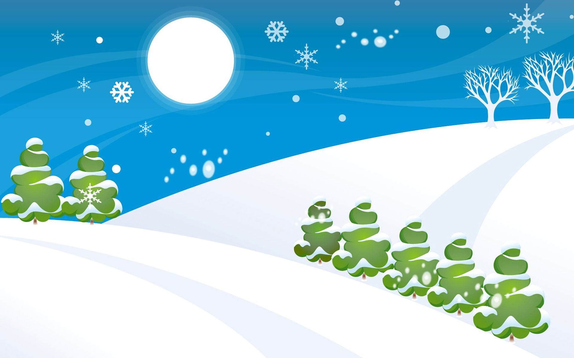 Christmas Vector Background Postcard