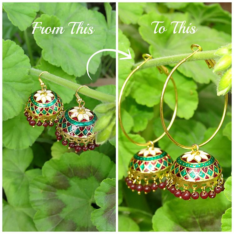 Today I am sharing a really very easy tutorial on How to Refashion your old Jhumka Earrings….. I have these traditional meenakari jhumka earrings that I absolutely love. Few days back I went …