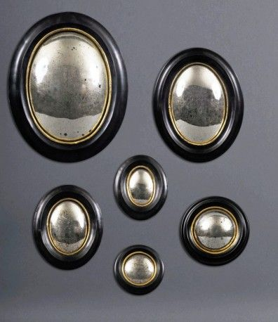 Miroirs sorci re ensemble de 6 miroir ovale miroirs et for Miroir oeil de sorciere