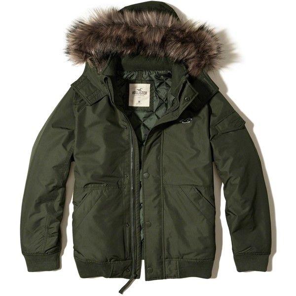 hollister fur hood jacket