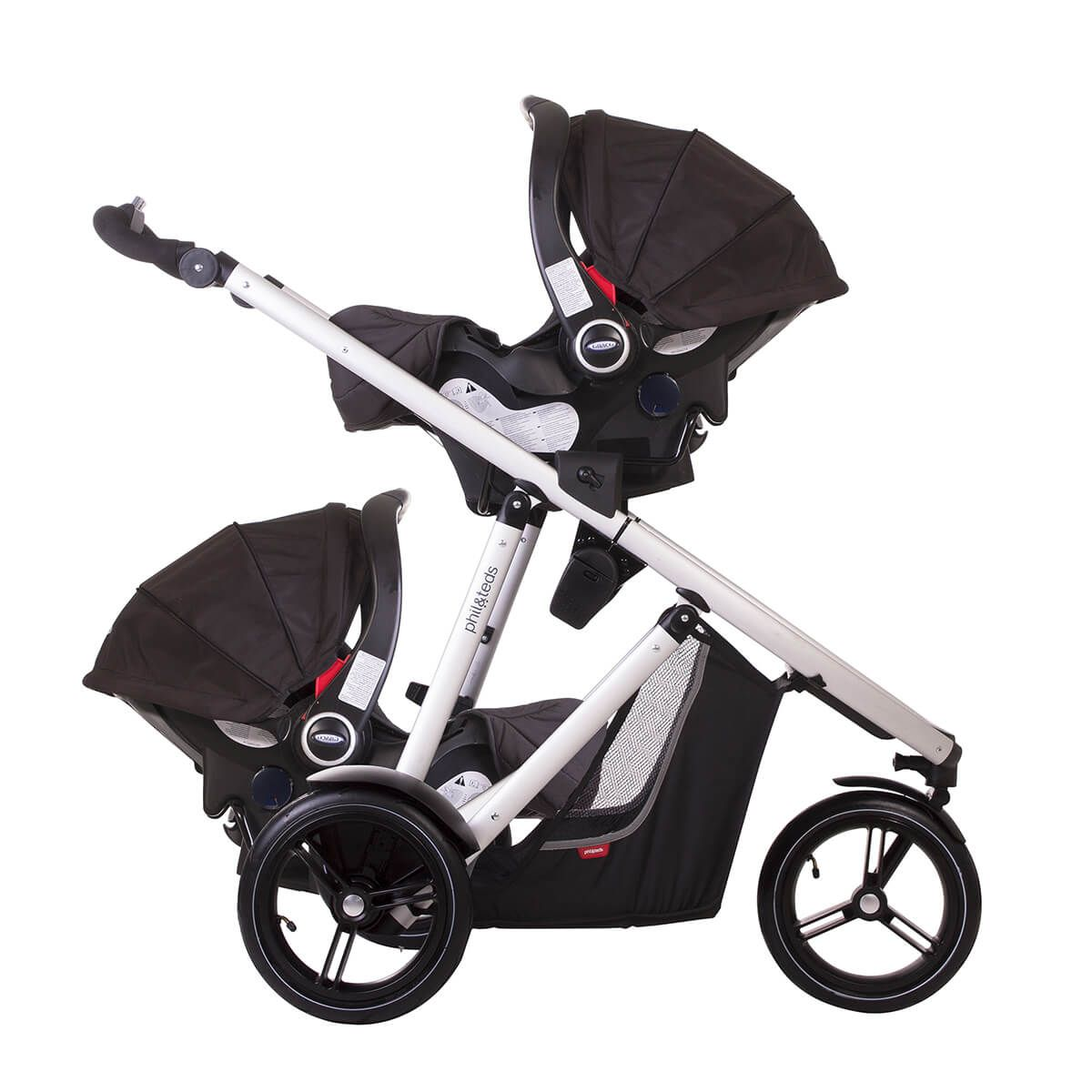 Phil And Teds Double Buggy Vibe Phil Teds Vibe All Terrain Urban Luxury Inline Stroller With