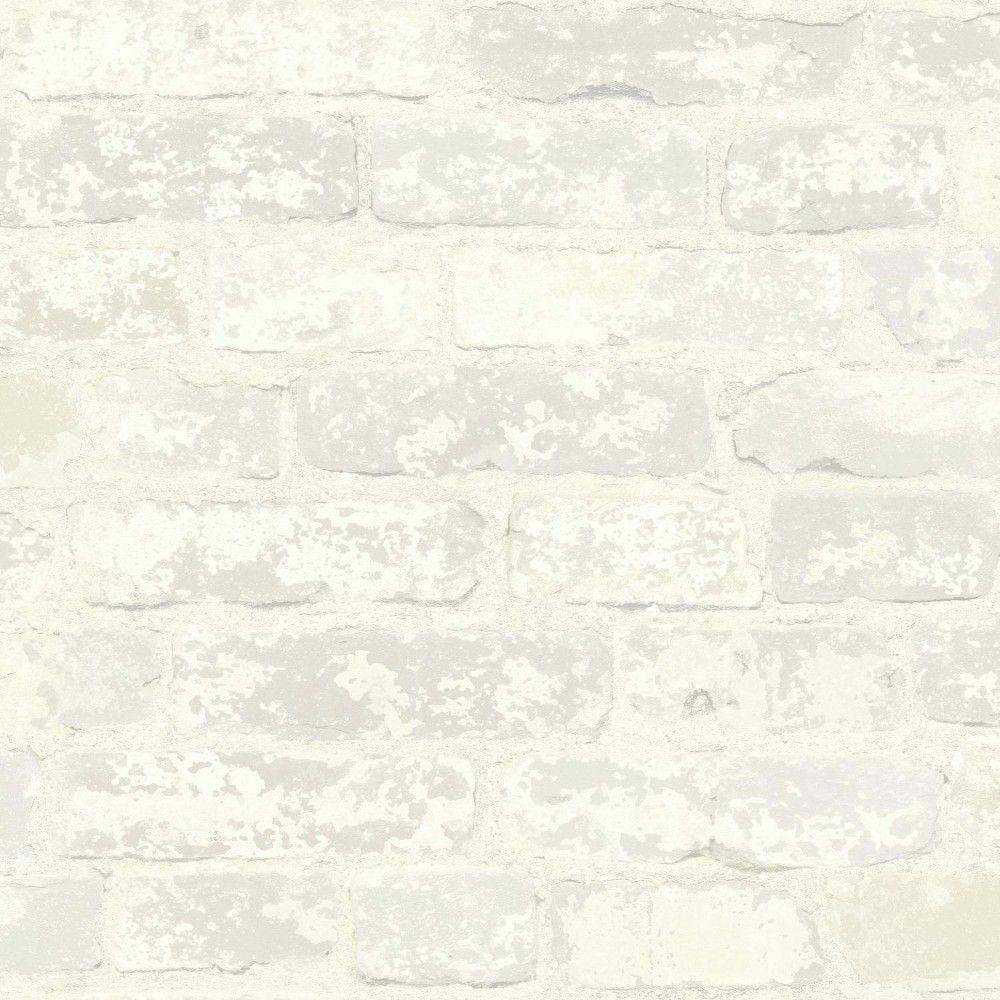 Roommates Stuccoed Brick Peel And Stick Wallpaper Cream In 2020 White Brick Wallpaper Peel And Stick Wallpaper Brick Wallpaper