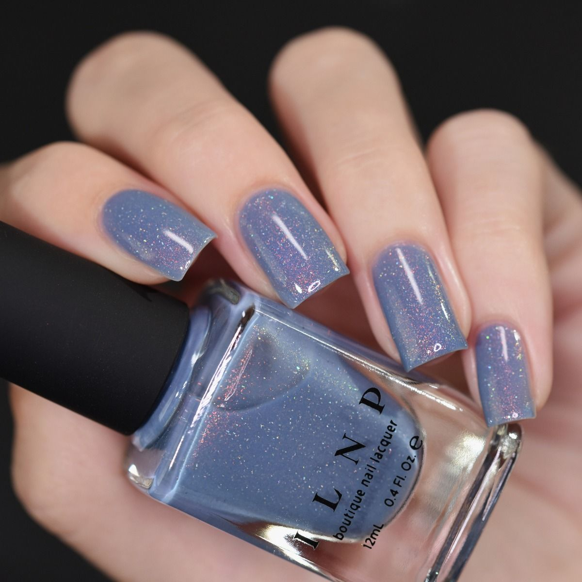 Dusk To Dawn – Dusky Blue Holographic Nail Polish by ILNP