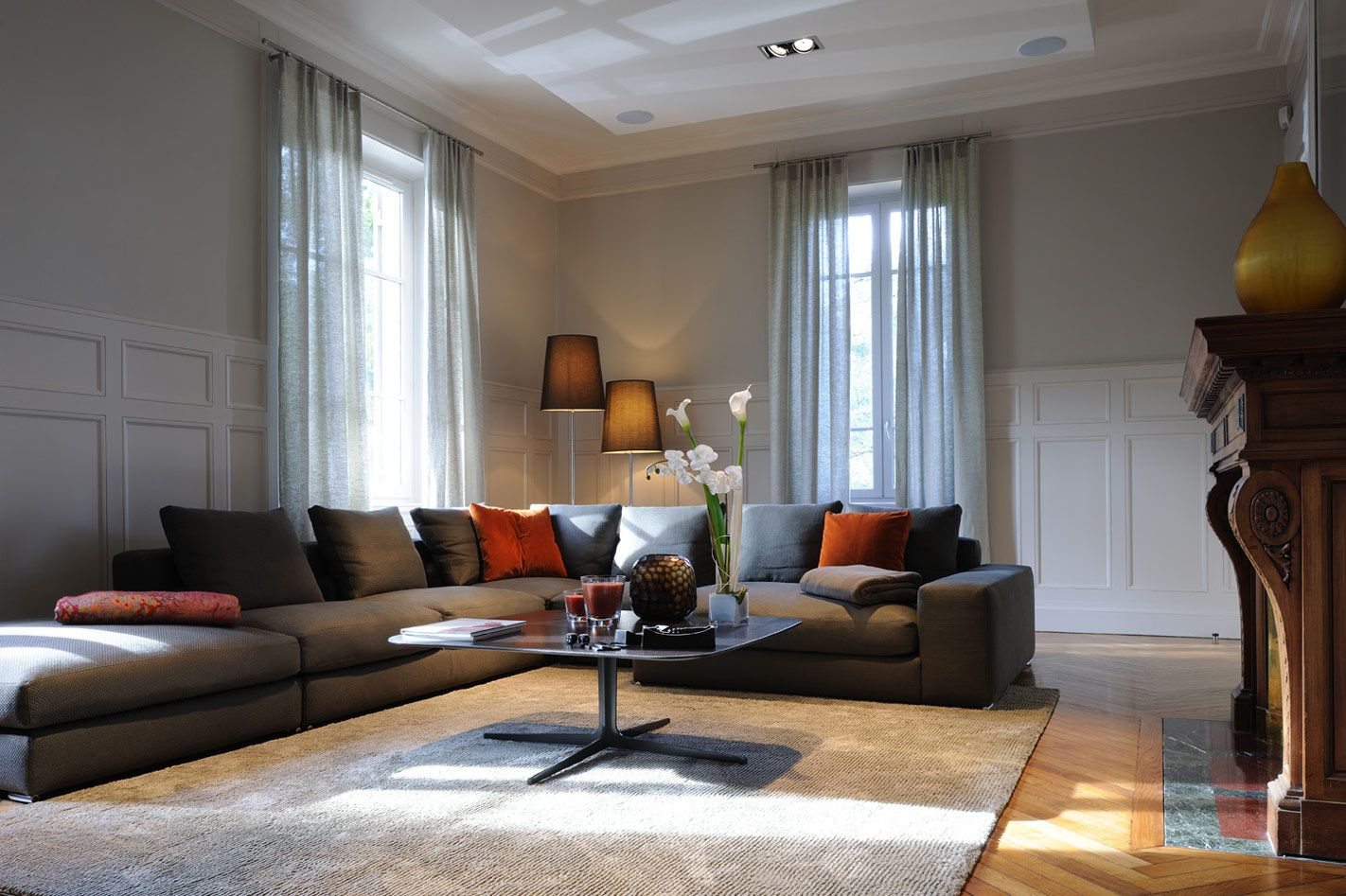 déco grand salon | Deco maison | Pinterest | Living rooms, Interiors ...