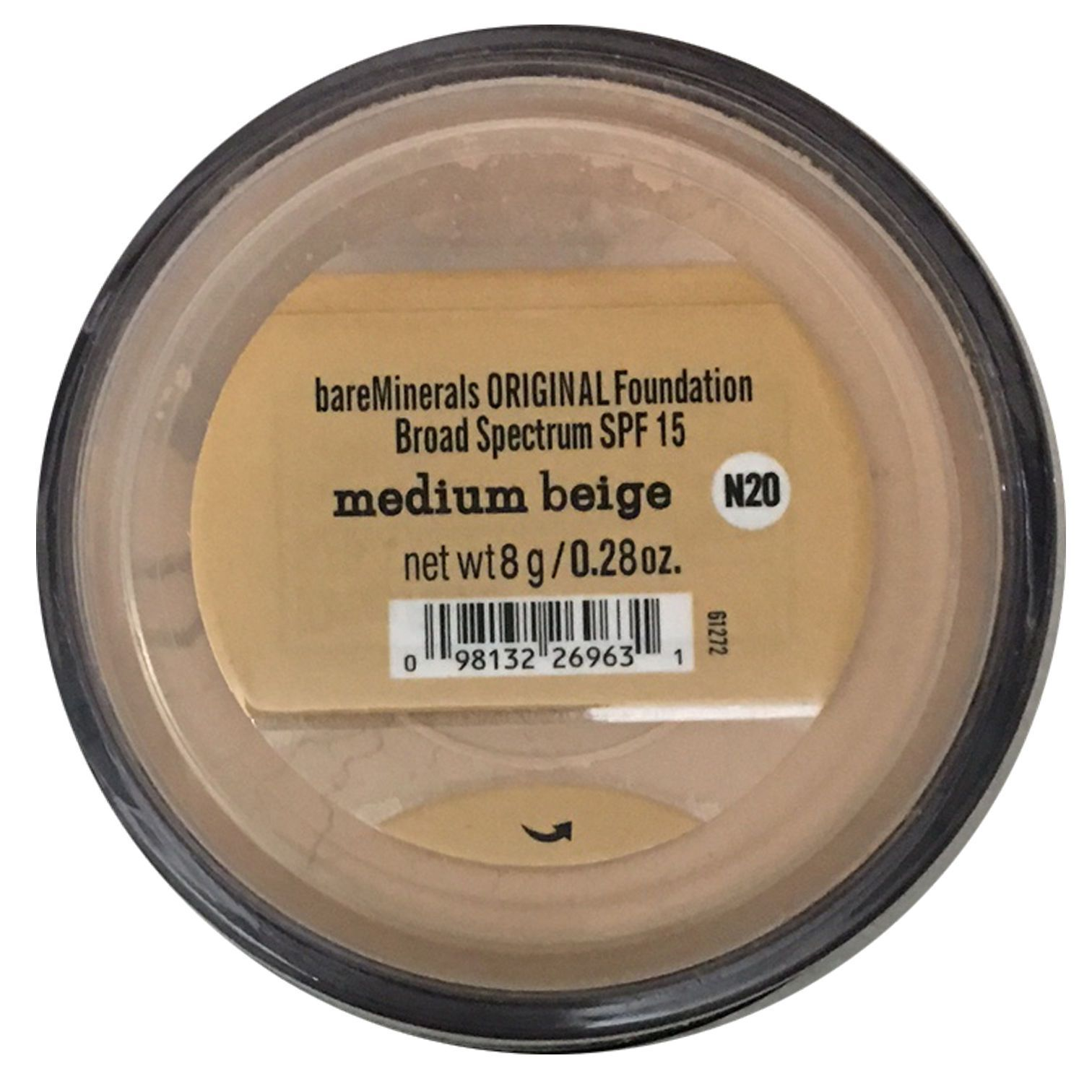 bare minerals foundation medium beige 8g