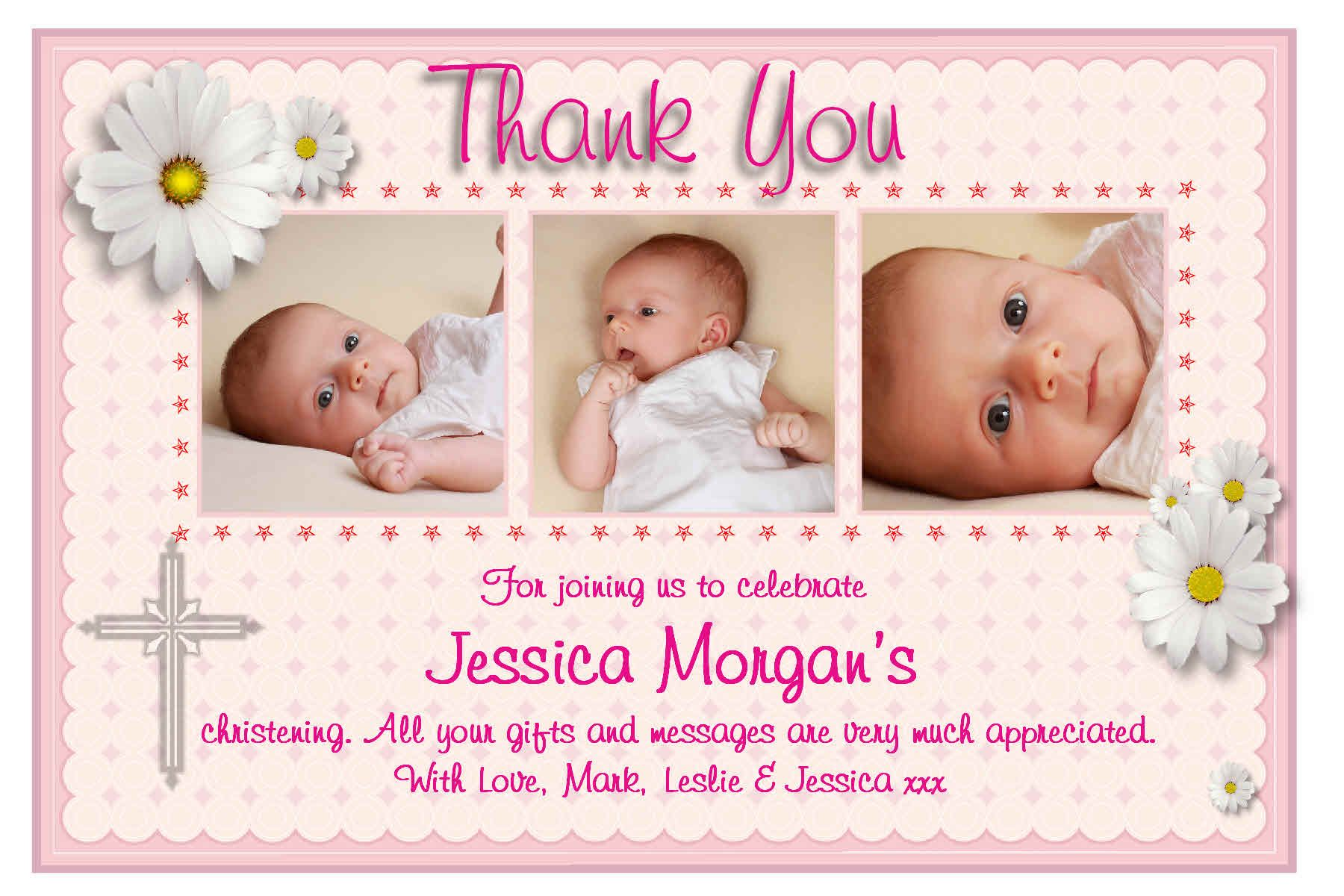 Dress Womens Clothing Thank You Card Personalised Custom Thank You Cards New Design Baptism Invitations Christening Invitations Girl Christening Invitations