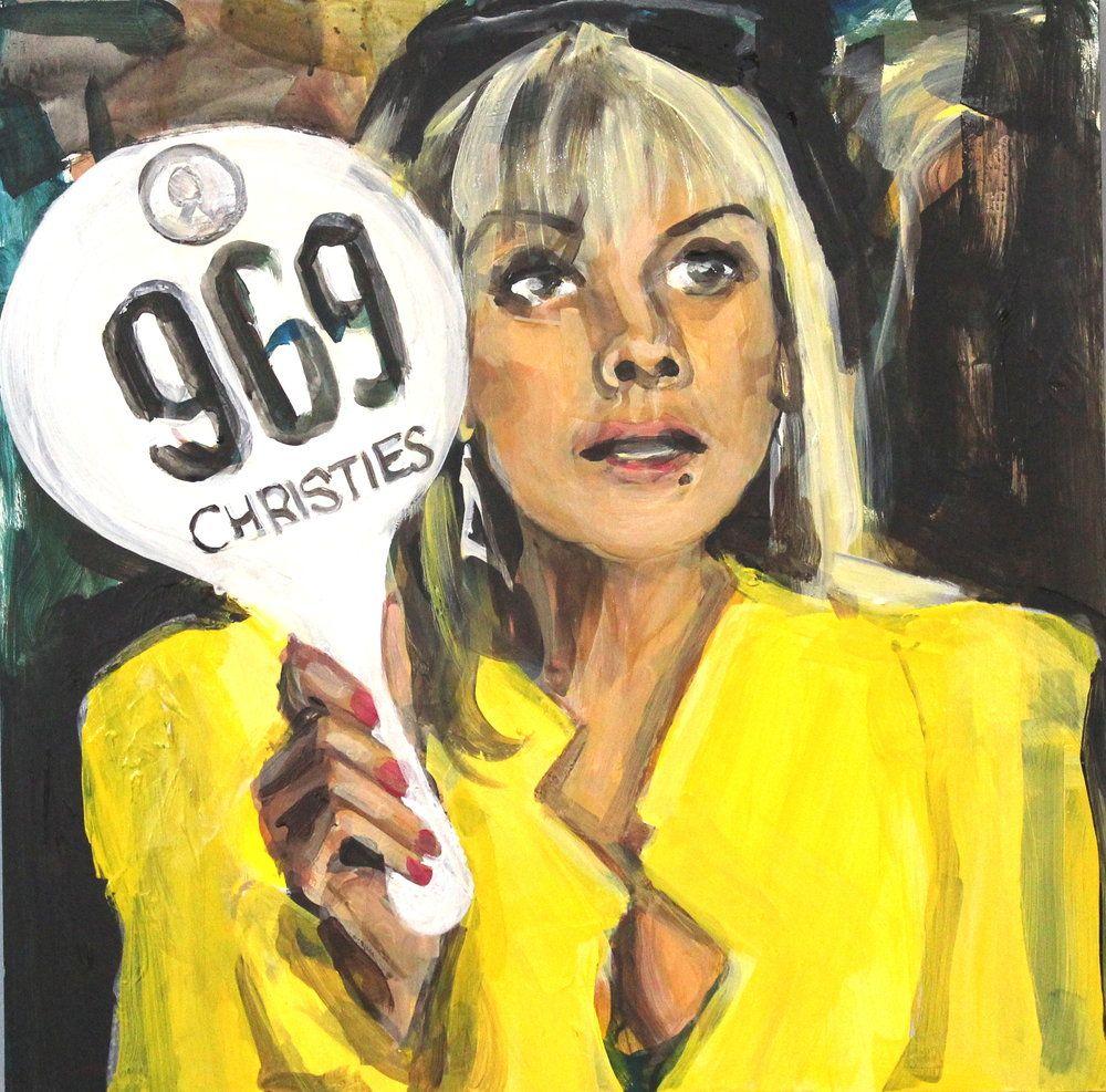 "Samantha Jones Bidding at Christie's"" by Laura Collins Original + Prints —  THNK1994 Museum   Samantha jones, Original prints, Prints"