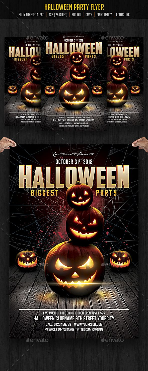 Halloween Flyer | Flyers, Blood and Flyer template