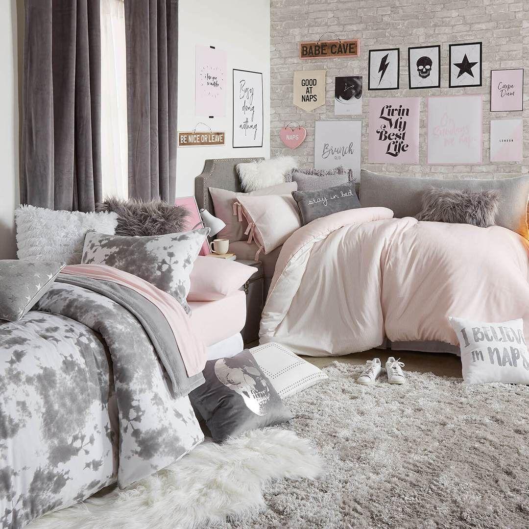 Faux Mongolian Square Pillow Grey Cute Dorm Rooms Farm House