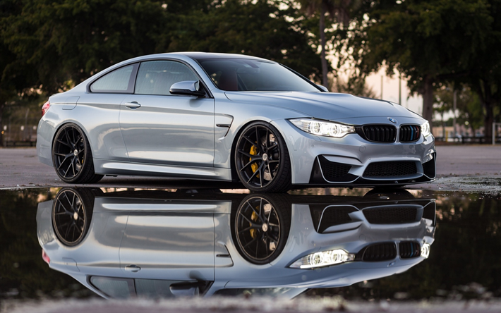 Download Wallpapers Bmw M4 2017 F83 Silver M4 Tuning Sports