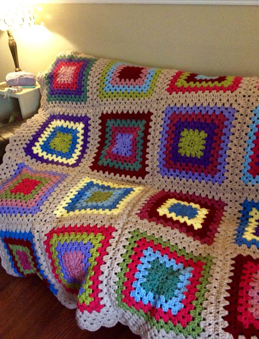 Asombroso Patrón De Crochet Sencillo Manta Imágenes - Manta de Tejer ...