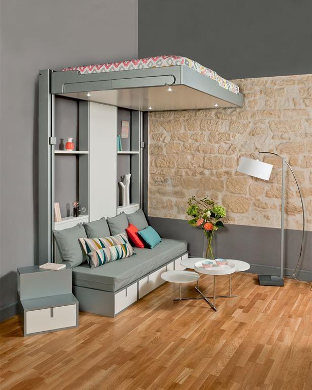 Rangez Votre Lit Au Plafond Verborgen Bed Interieur Kleine Slaapkamer
