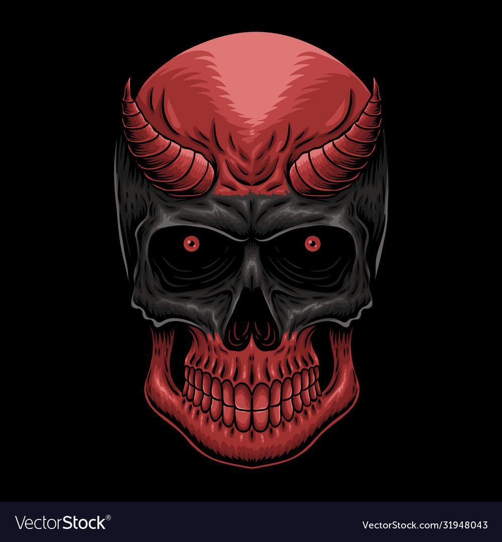 Head Demon Skull Vector Illustration For Your Company Or Brand Download A Free Preview Or High Quality Adobe Illustrator Ai Eps Pdf And High Resolution Jpeg